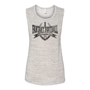 2016 Fantasy Football Champion V Outline - Bella Flowy Scoop Muscle Tank (S)