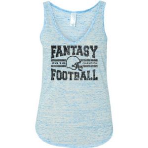 2016 Fantasy Football Champion H Helmet - Ladies' Flowy V-Neck Tank