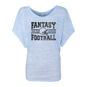2016 Fantasy Football Champion H Helmet - Women's Flowy Draped Sleeve Dolman Tee (S)