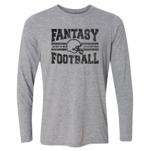 2016 Fantasy Football Champion H Helmet - Light Long Sleeve Ultra Performance Active Lifestyle T Shirt
