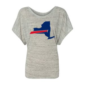 Buffalo is New York's Football Team - Women's Flowy Draped Sleeve Dolman Tee (S)
