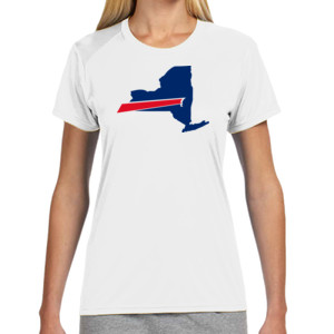 Buffalo is New York's Football Team - (S) Ladies' Shorts Sleeve Cooling Performance Crew Light Color Shirt