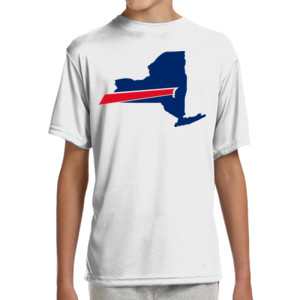 Buffalo is New York's Football Team - (S) Youth Shorts Sleeve Cooling Performance Crew Ligh Color Shirt