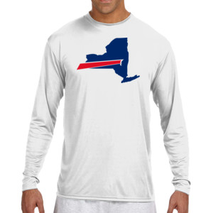 Buffalo is New York's Football Team - (S) Long Sleeve Cooling Performance Crew Light Color Shirt