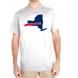 Buffalo is New York's Football Team - (S) Unisex Tech Short-Sleeve Light Color T-Shirt