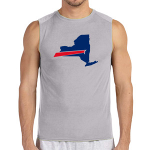 Buffalo is New York's Football Team - (S) Performance™ 4.5 oz. Sleeveless Light Color T-Shirt