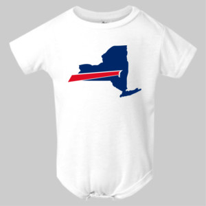 Buffalo is New York's Football Team - Infant Polyester Bodysuit Onsie