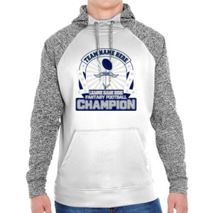 Fantasy Football Championship Design - Adult Colorblock Cosmic Pullover Hood (S)