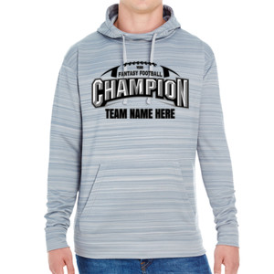 Fantasy Football Champion Arch Football - JAmerica Unisex Poly Fleece Striped Pullover Hoodie