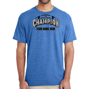 Fantasy Football Champion Arch Football - (S) Adult 5.5 oz Cotton Poly (35/65) T-Shirt
