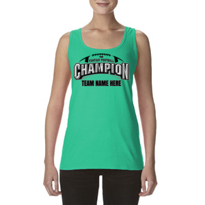 Fantasy Football Champion Arch Football - Ladies' Softstyle®  4.5 oz. Racerback Tank (S)