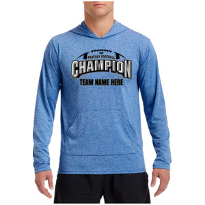 Fantasy Football Champion Arch Football - Performance Hooded Pullover (S)