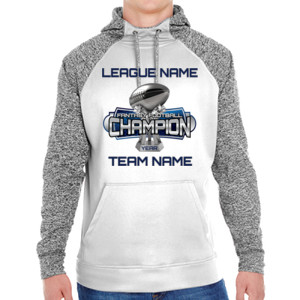 Fantasy Football Champion Large Trophy - Adult Colorblock Cosmic Pullover Hood (S)