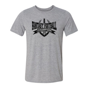2018 Fantasy Football Champion V Outline - Light Youth/Adult Ultra Performance Active Lifestyle T Shirt