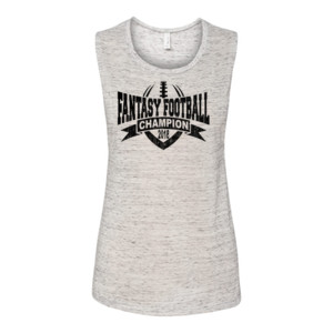 2018 Fantasy Football Champion V Outline - Bella Flowy Scoop Muscle Tank (S)