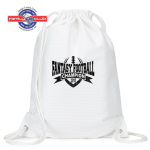 2018 Fantasy Football Champion V Outline - Jersey Mesh Drawstring Sport Pack
