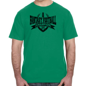 2018 Fantasy Football Champion V Outline - Lightweight T-Shirt