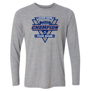 Fantasy Football Champion Stadium/Shield - Light Youth Long Sleeve Ultra Performance Active Lifestyle T Shirt