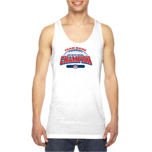 Fantasy Football Champion - Football Outline FFL - American Apparel Unisex Sublimation Tank