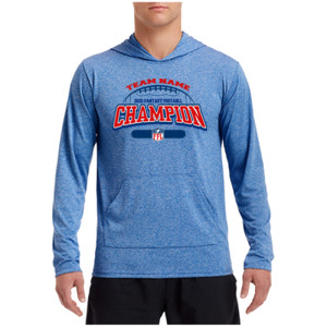 Fantasy Football Champion - Football Outline FFL - Performance Hooded Pullover (S)