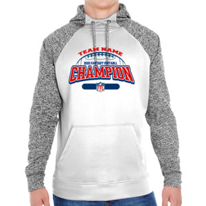 Fantasy Football Champion - Football Outline FFL - Adult Colorblock Cosmic Pullover Hood (S)