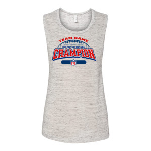 Fantasy Football Champion - Football Outline FFL - Bella Flowy Scoop Muscle Tank (S)