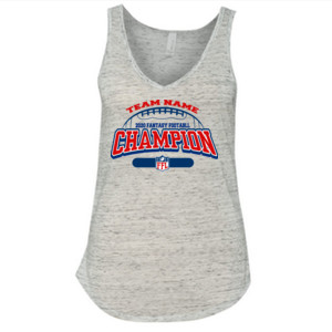 Fantasy Football Champion - Football Outline FFL - Ladies' Flowy V-Neck Tank