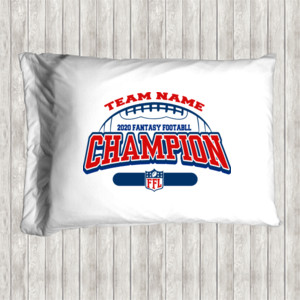 Fantasy Football Champion - Football Outline FFL - Pillow Case