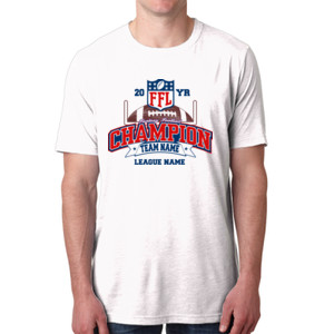 Fantasy Football Champion - Goalpost FFL - Men's Poly/Cotton Short-Sleeve Crew Tee