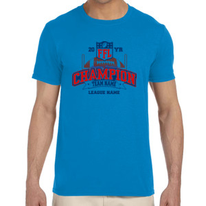 Fantasy Football Champion - Goalpost FFL - Adult Softstyle® 4.5 oz. Heather Color T-Shirt (S)