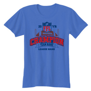 Fantasy Football Champion - Goalpost FFL - Ladies' Softstyle® 4.5 oz. Fitted Heather Color T-Shirt
