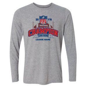 Fantasy Football Champion - Goalpost FFL - Light Long Sleeve Ultra Performance Active Lifestyle T Shirt