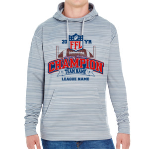 Fantasy Football Champion - Goalpost FFL - JAmerica Unisex Poly Fleece Striped Pullover Hoodie