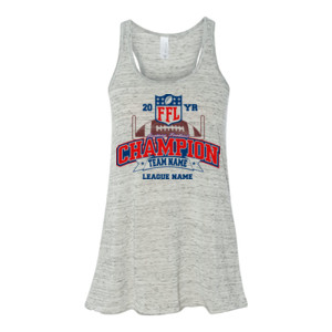 Fantasy Football Champion - Goalpost FFL - Bella Ladies' Flowy Racerback Tank (S)