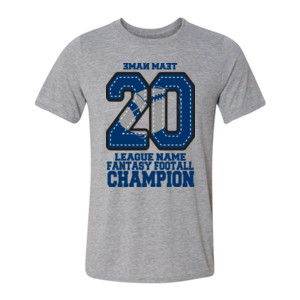 Fantasy Football Champion '18 FFL - Blue - Light Youth/Adult Ultra Performance Active Lifestyle T Shirt