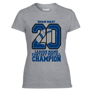Fantasy Football Champion '18 FFL - Blue - Light Ladies Ultra Performance Active Lifestyle T Shirt