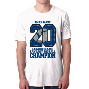 Fantasy Football Champion '18 FFL - Blue - Men's Poly/Cotton Short-Sleeve Crew Tee