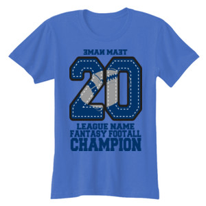Fantasy Football Champion '18 FFL - Blue - Ladies' Softstyle® 4.5 oz. Fitted Heather Color T-Shirt