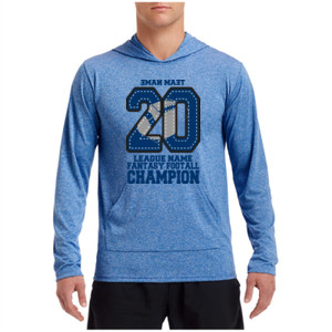 Fantasy Football Champion '18 FFL - Blue - Performance Hooded Pullover (S)