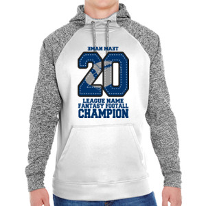 Fantasy Football Champion '18 FFL - Blue - Adult Colorblock Cosmic Pullover Hood (S)