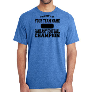 Custom Property of Fantasy Football Champion - (S) Adult 5.5 oz Cotton Poly (35/65) T-Shirt