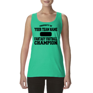 Custom Property of Fantasy Football Champion - Ladies' Softstyle®  4.5 oz. Racerback Tank (S)