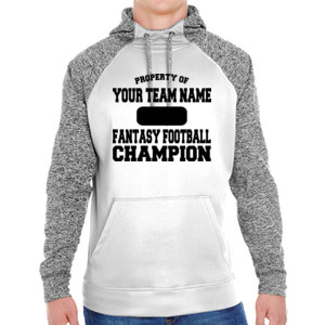 Custom Property of Fantasy Football Champion - Adult Colorblock Cosmic Pullover Hood (S)