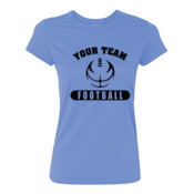 Custom Football Outline - Light Ladies Ultra Performance 100% Performance T Shirt