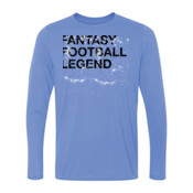 Distressed Fantasy Football Legend - Light Youth Long Sleeve Ultra Performance 100% Performance T Shirt