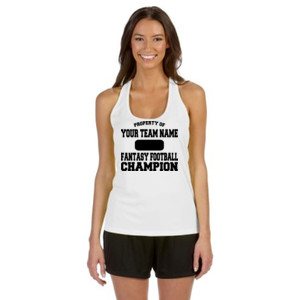 Custom Property of Fantasy Football Champion - Alo Sport Ladies' Performance Racerback Tank
