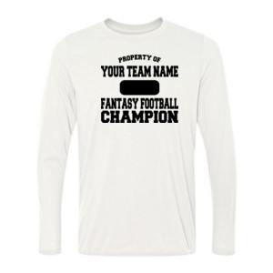 Custom Property of Fantasy Football Champion - Light Ladies Long Sleeve Ultra Performance 100% Performance T Shirt