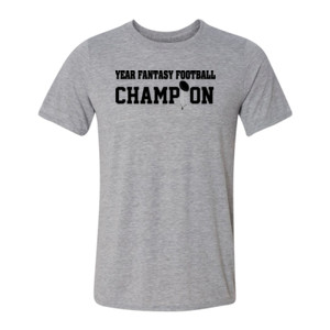 Custom Fantasy Football Championship T-shirt - Light Youth/Adult Ultra Performance 100% Performance T Shirt