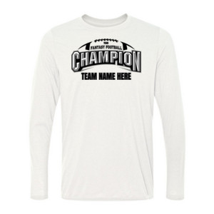 Fantasy Football Champion Arch Football - Light Long Sleeve Ultra Performance Active Lifestyle T Shirt