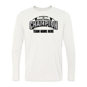 Fantasy Football Champion Arch Football - Light Youth Long Sleeve Ultra Performance Active Lifestyle T Shirt